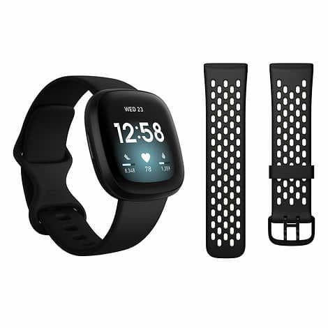Fitbit Versa 3 Bundle, Black or Gold $189.99