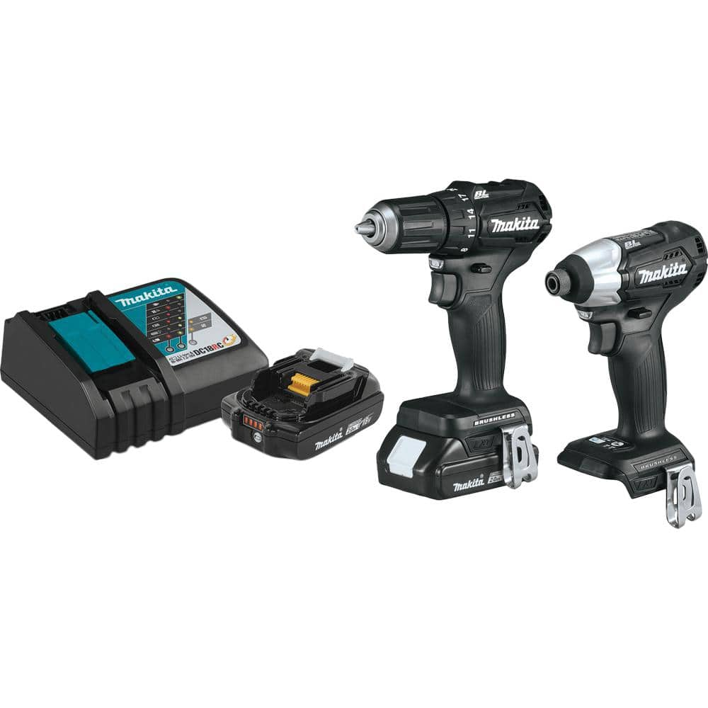 Makita 18-Volt LXT Lithium-Ion Sub-Compact Brushless Cordless 2-piece Combo Kit (Driver-Drill/ Impact Driver) (3) 2.0Ah $229