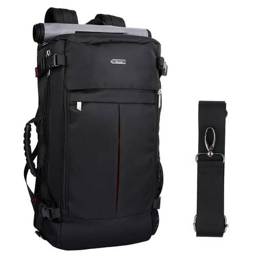 OXA Canvas Travel Backpack Hiking Bag Camping Bag Rucksack On Amazon For $19.99