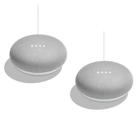 Walmart has 2 pack Google Home Mini  (chalk)and others.In Store. YMMV $25