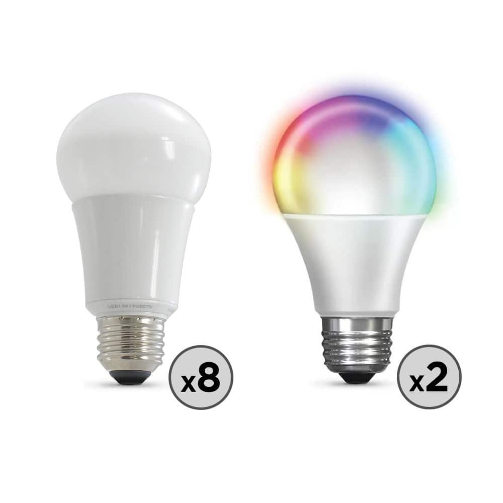 Eversource customers-8-60 w EQ and 2 Wi-Fi color changing LED bulbs