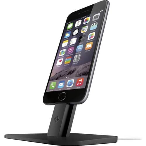Twelve South HiRise for iPhone/iPad, Black | Adjustable charging stand, requires Apple Lightning cable (not included) $14.99