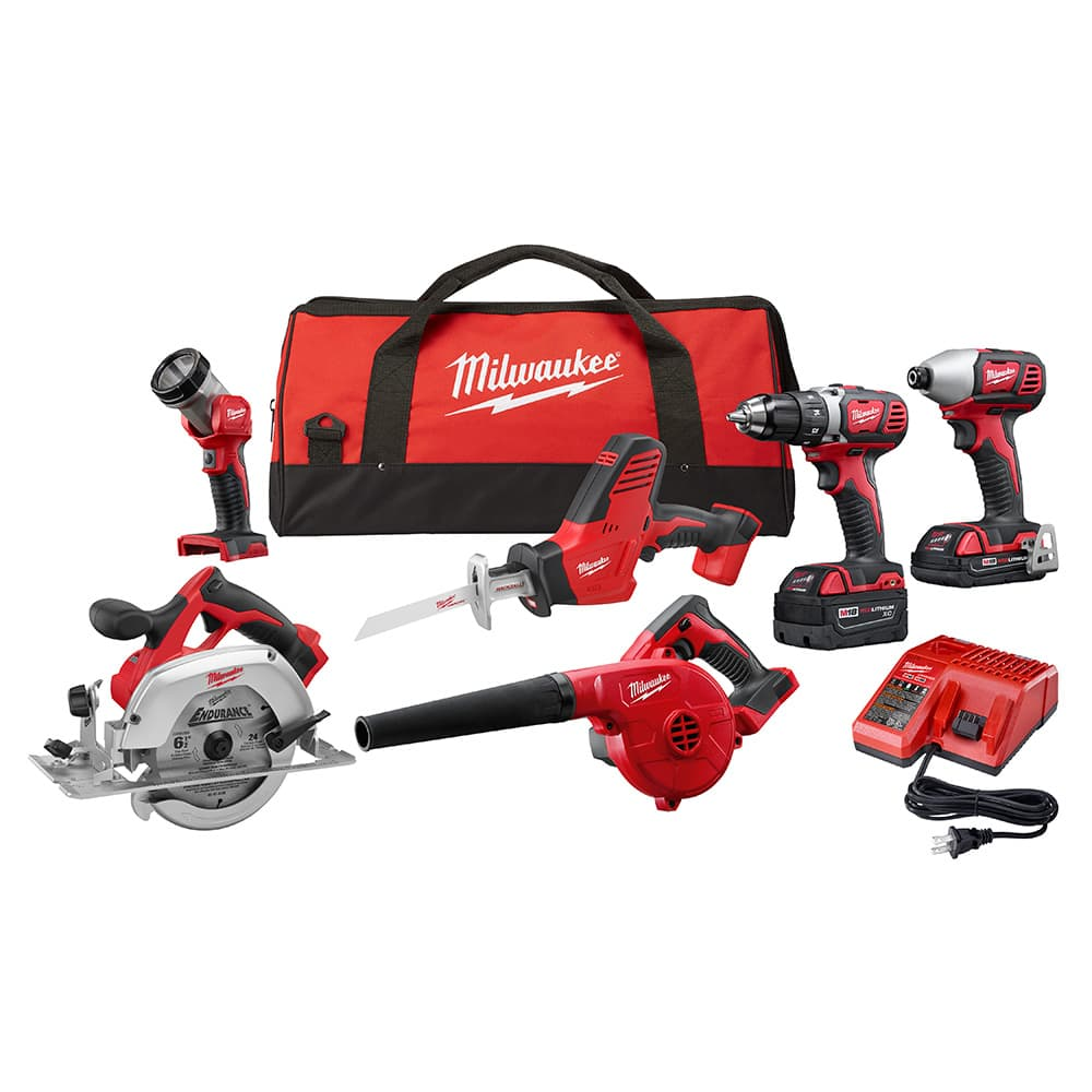 Milwaukee M18 6 Tool Combo Kit 2695-26CX $349 shipped.