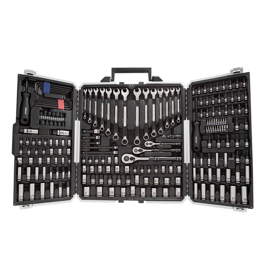 Kobalt 200-Piece Standard (SAE) and Metric Combination 1/4-in Drive Spline Socket Set with Case - LOWES - YMMV - $99