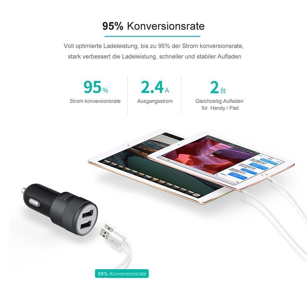2 Port 2.4 A USB Mini Car Charger @Amazon $4.89 AC