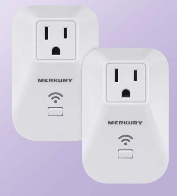 2-Pack: Merkury Innovation Smart Control+ Smart Outlets with Energy Tracking $20