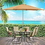 9' Aluminum Patio Umbrella Tilt W/ Crank $39.99 + FS