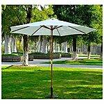 Outsunny 9' Wooden Outdoor Patio Market Umbrella $34.99 + FS