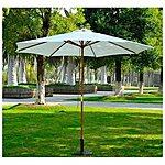 Outsunny 9' Wooden Outdoor Patio Market Umbrella $34.99 + FS