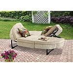Mainstays Orbit Chaise Lounger (SEATS 2) w/ 2 Throw Pillows $186 @ Walmart