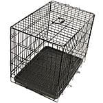 OxGord Steel Pet Kennel Foldable w/ Double Doors, Divider, ABS Plastic Pan & Detachable Handle from $21.71 + FS