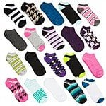 20-Pairs women's Athletic No-Show Low Cut Socks (various Colors/Prints) $12 + FS