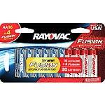 20-Pk Rayovac AA Batteries (16AA + 4AA Fusion) $7.97 @ Best Buy