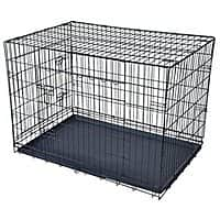 "Rakuten (Buy.com) Deal: Black 48"" Pet Folding Dog Cat Crate Cage Kennel w/ABS Tray LC $49.88 + Free Shipping (other sizes available)"