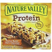 Amazon Deal: Nature Valley Chewy Protein Bars, Peanut Butter Dark Chocolate 5 Bars (Pack of 4) As Low As $8.69 w/S&S & More