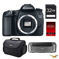 BuyDig Deal: Canon 70D DSLR Camera Body + PRO-100 Printer Bundle & More