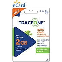 Walmart Deal: TracFone Data Cards: 2GB $30 or 750MB