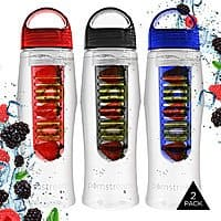 Tanga Deal: 2-Pack 25oz NonSlip Infuser Water Bottle