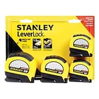 Ace Hardware Deal: 4-Pk Stanley Leverlock Tape Measure: 25' + 16' + 2 x 12'