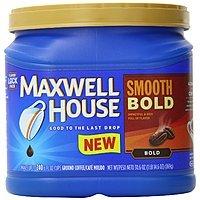 Amazon Deal: 30.6oz Maxwell House Ground Coffee (Smooth Bold)