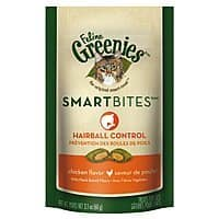 Amazon Deal: 2.1oz-Bag Feline Greenies Smartbites Treats (Several Varieties)