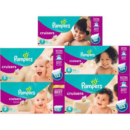 2-Boxes of Pampers Diapers Economy Plus Packs (Baby Dry, Swaddlers, or Cruisers) + $30 Target Gift Card $94.38 + Free Shipping