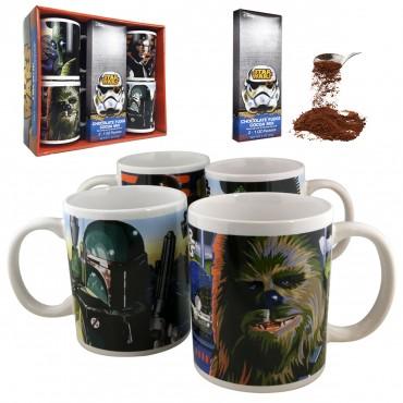 Star Wars Mugs Gift Set w/ Hot Cocoa (4 Mugs Total) $12 + FS