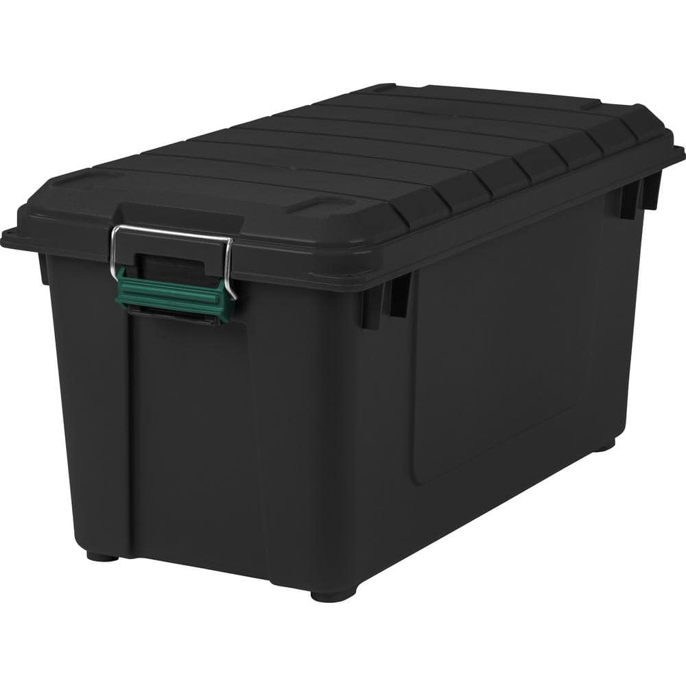 Remington 82 Quart WEATHERTIGHT Storage Box, Store-It-All Utility Tote, 4 Pack, Black for $55.75 w/ Free Shipping