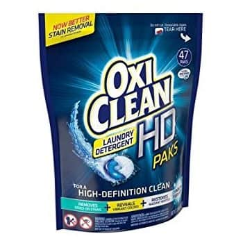 Oxiclean Laundry Detergent HD Pack, Sparkling Fresh Scent, 18 Count $3