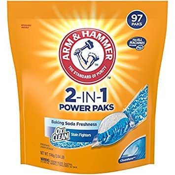 amazon addon Arm & Hammer 2-IN-1 Laundry Detergent Power Paks, 97 Count, 3.84 Pound (Packaging May Vary) $9.9