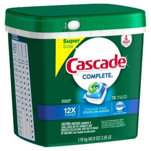 Cascade® Complete™ ActionPacs™ Dishwasher Detergent, Fresh Scent, 78ct $12.99