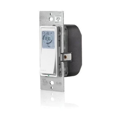Leviton VPT24-1PZ Vizia 24-Hour Programmable Indoor Timer with Astronomical Clock [1-Pack] $33