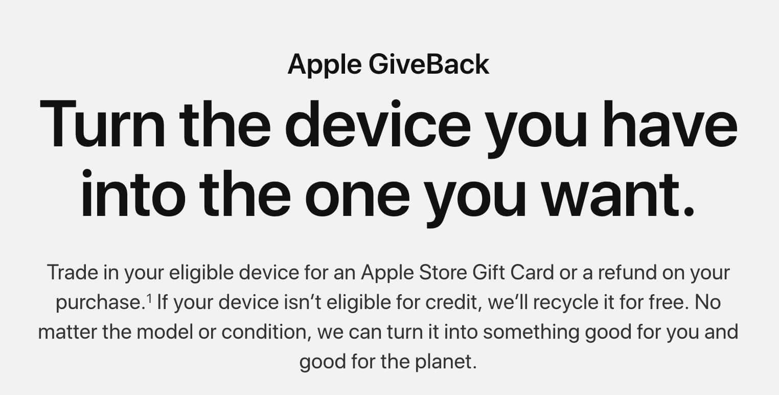 Apple Giveback - Up to $100 in extra credit for iPhone Trade-In