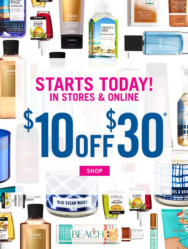 bath body works 10 off 30 coupon in store and online