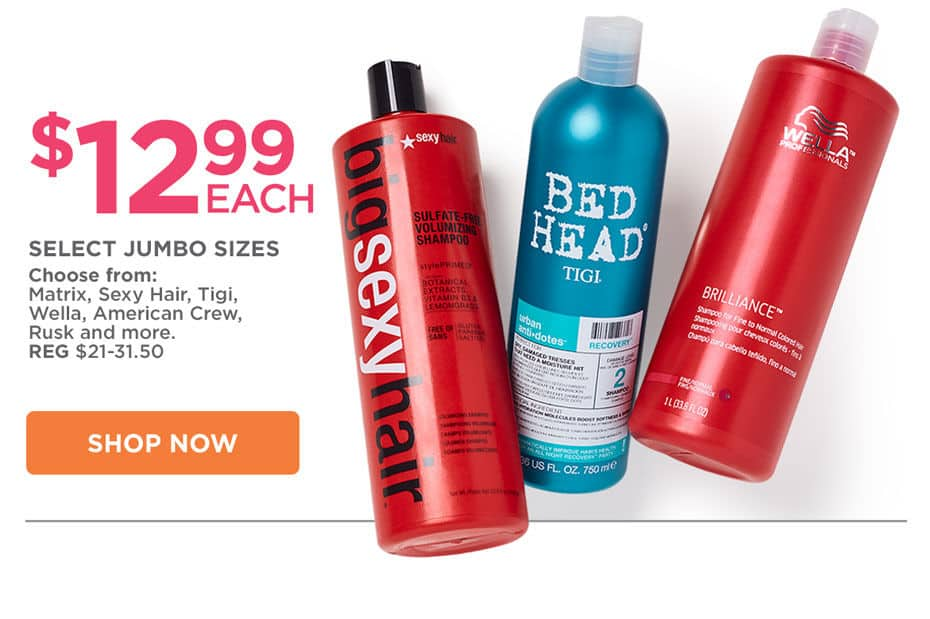 Ulta - Hair Care Liter Jumbo Sale is Back! - Prices starting at $12.99 each!