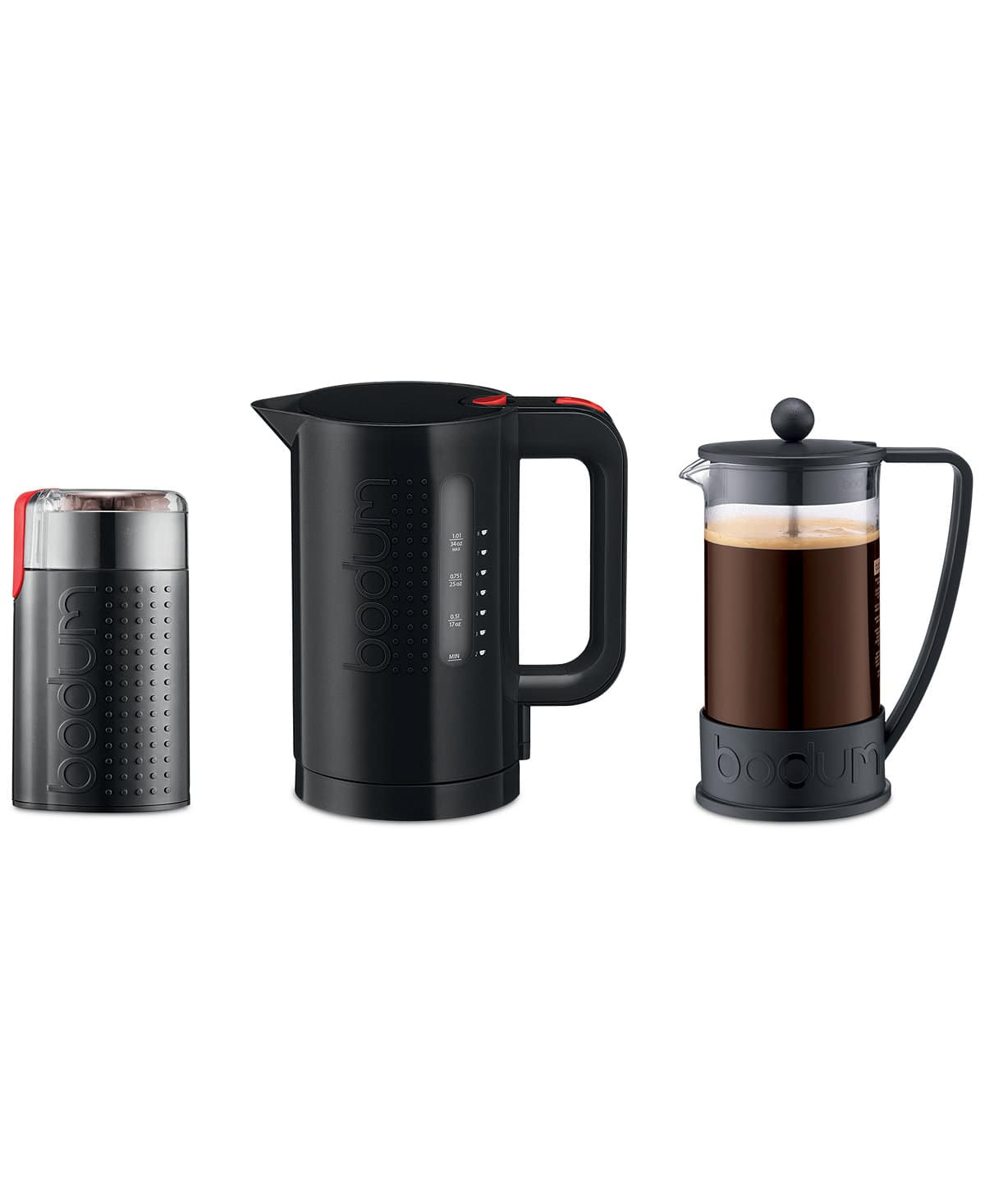 Macy's - Bodum 3-Pc. Grind, Boil, Brew Value Set $39.93 (reg $120) Free Ship (set includes French press coffee maker, electric Bistro grinder and electric water kettle)