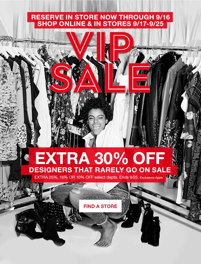Macy's VIP Sale - 9/17-9/25 - 30% off Clothing, Accessories, Handbags & Shoes INCLUDING many Premium Brands