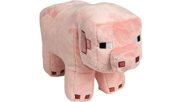 "Minecraft Plush: 12"" Pig or 14"" Ocelot $8 each (normally $18+) + More - Free S/H"