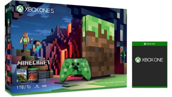 Xbox One S 1TB Console – Minecraft Limited Edition Bundle + Free Select Game + Free Express Shipping $299