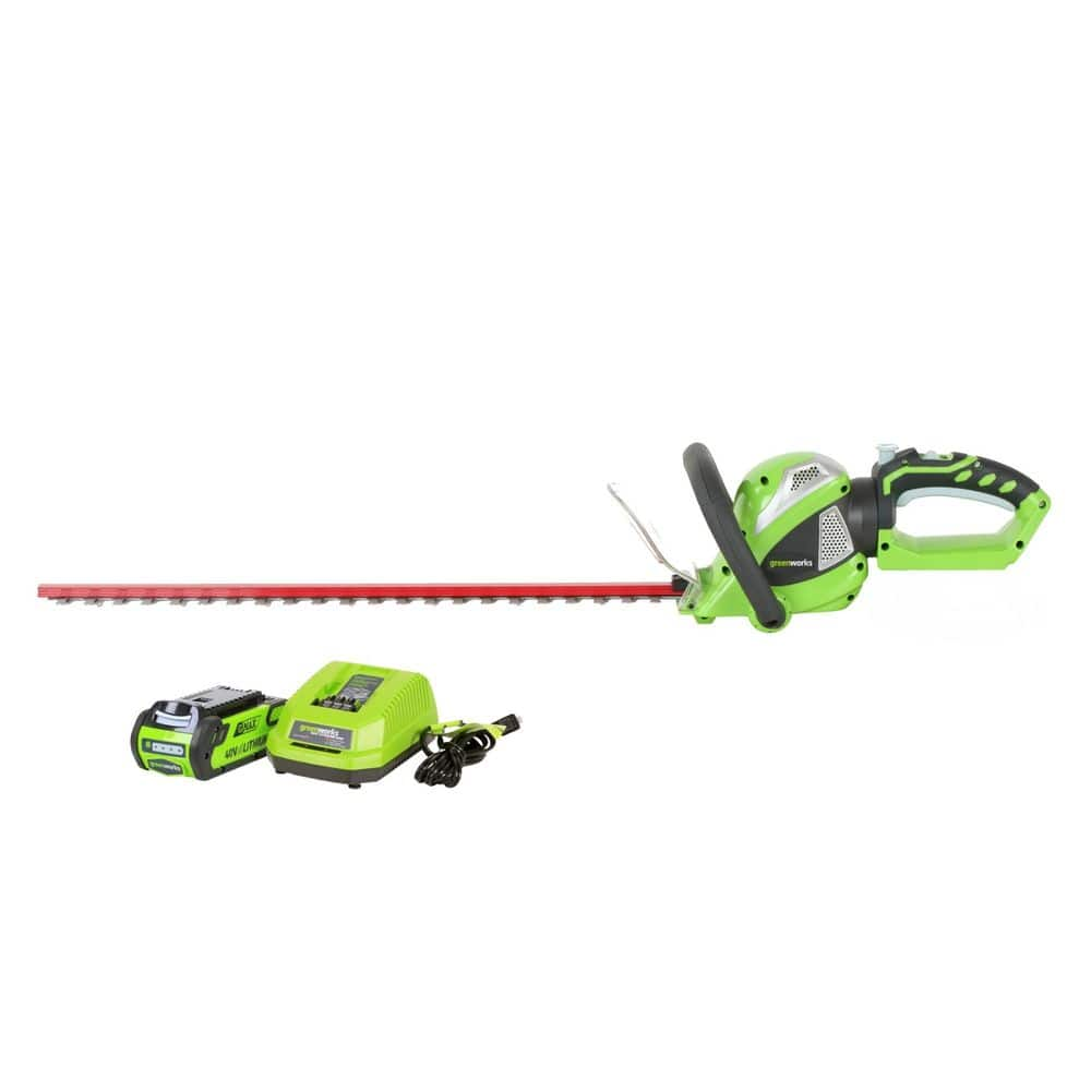 Greenworks 22262 - G-MAX 24 Inch 40V Cordless Hedge Trimmer W/ Battery & Charger $84.99 FS