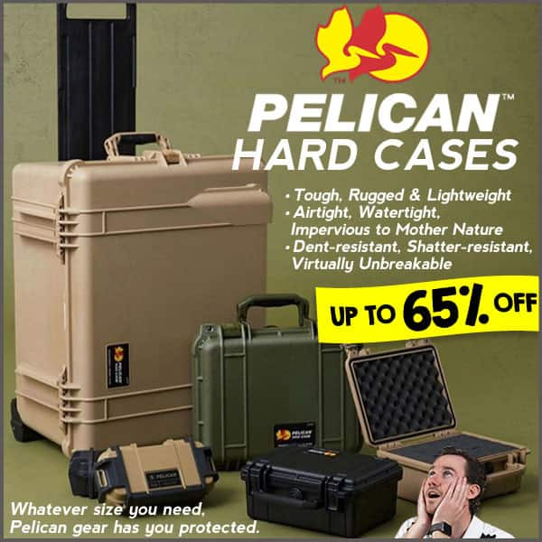Flash Sale: Up to 65% off NEW Pelican hard cases!