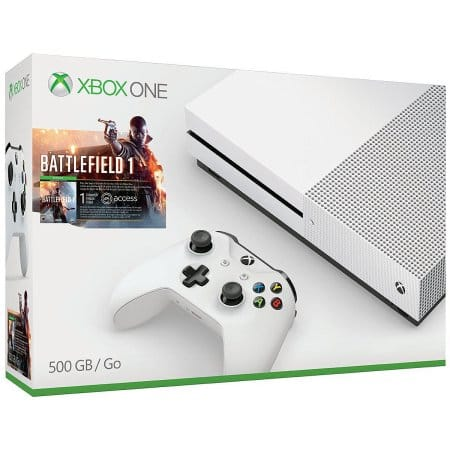 Xbox One S 500GB Console - Battlefield 1 Bundles + Free Select Game $229