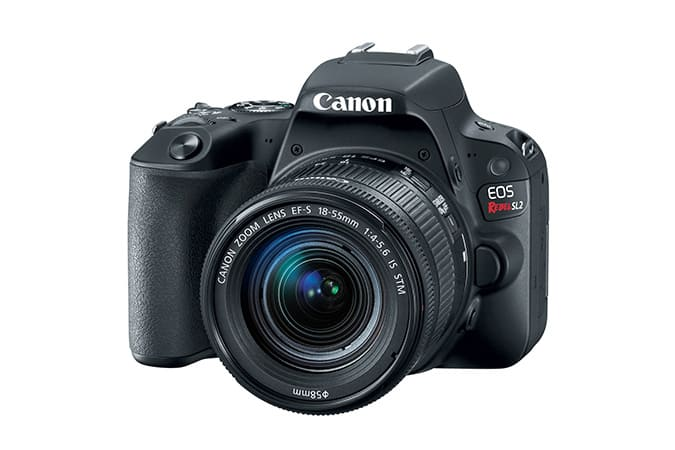 UPDATED Canon EOS Rebel SL2 Black EF-S 18-55mm f/4-5.6 Kit REFURB - $454 Free Shipping