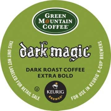 408 K-cup, Green Mountain Dark Magic and Select variety $103.83 ($ 0.244/Cup) (Quill)