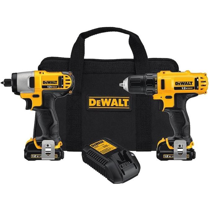 DEWALT 2-Tool 12V MAX LI-ION Cordless Drill/Driver + Impact Driver Combo Kit with Soft Case $99