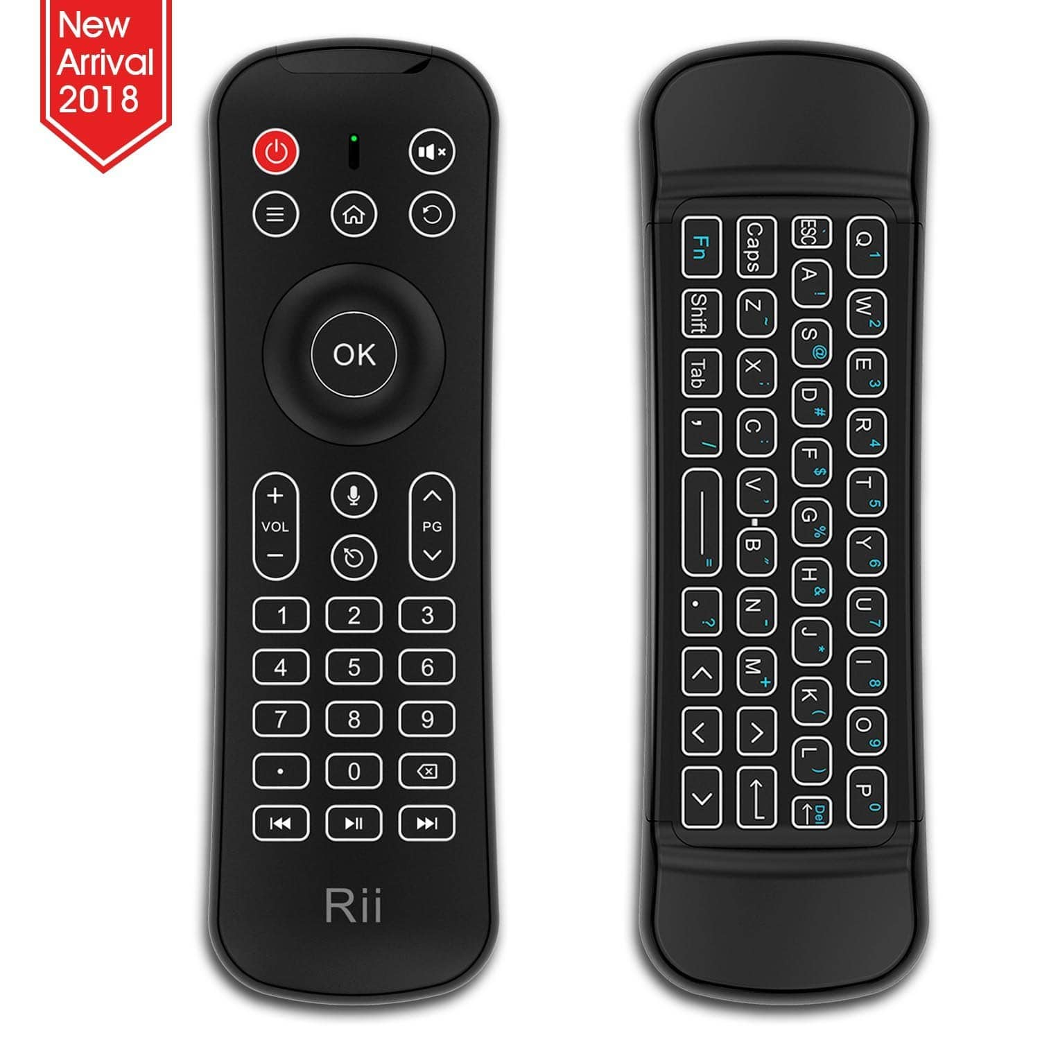 Rii Backlit Fly Mouse 2.4G MX6 Multifunctional Wireless Mini Keyboard and Remote Control With Microphone $15.39