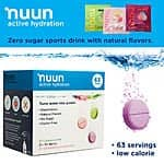 nuun Active Hydration, 63 Electrolyte Drink Tablets - $17 + tax (free shipping)