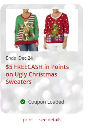 Kmart 5 Freecash On Ugly Christmas Sweaters Ymmv Slickdealsnet