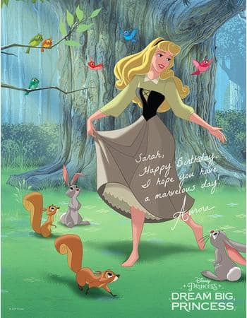 Disney Movie Rewards Dream Big Princess Personalized Character Printable Poster FREE