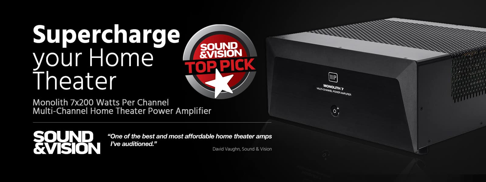 Monoprice Monolith 7x200 Watts Per Channel Multi-Channel Home Theater Power Amplifier $1199 plus ship with code CRAZY
